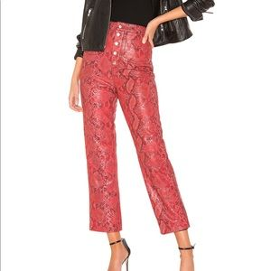 L'Academie Serpent Leather Pant in Snake